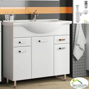 Badm bel waschbecken waschtisch unterschrank 85 cm t r - Waschbeckenunterschrank stehend ...