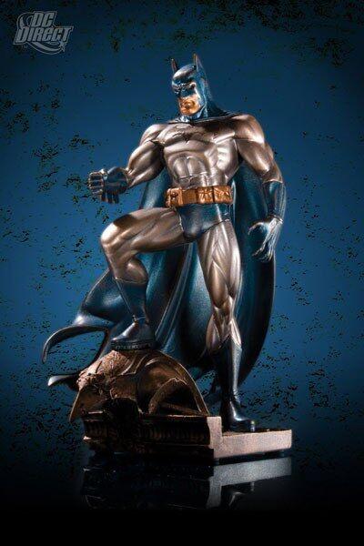 Batman patina dc direkte mini - statue