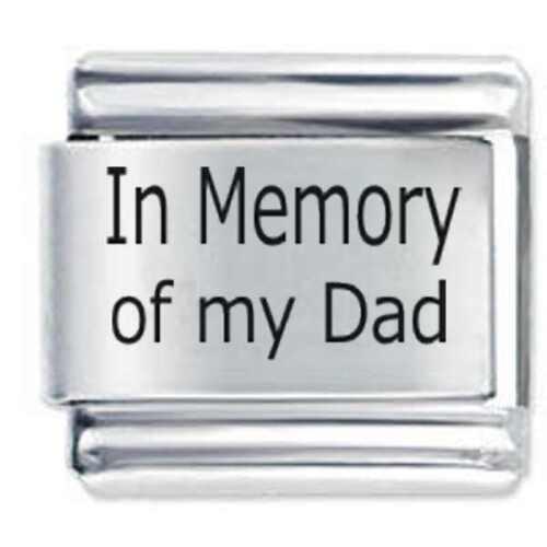 Erinnerung of my Papa DAISY CHARM Italienische Anhänger passt Nomination