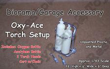 Oxygen/Acetylene Tanks & Torch on Cart - Diorama/Garage Equipment Abt 1/43 Scale