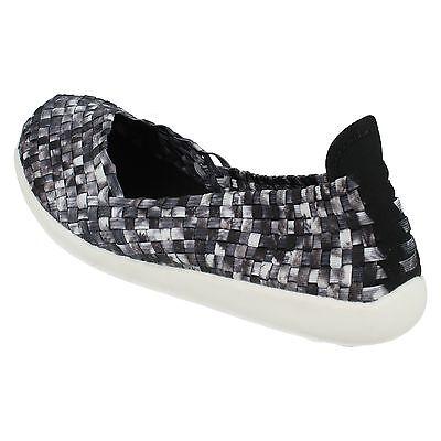 Damen Down To Earth ohne Bügel elastisch gewebt Flache Schuhe f80218