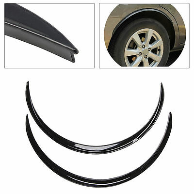 2pcs Car Fender Flare Wheel Lip Rubber Protector Body Kit Trim 70cm Black