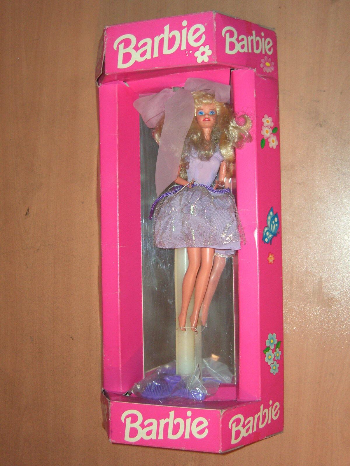 Vintage 90's Muñeca Barbie Con Vela Para Pascua griega única novedad Mattel Mib