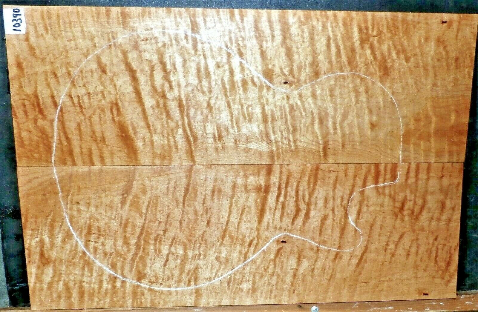 Quilted TIger Curly Maple Wood 10390 Luthier 5A Guitar Top Set 23x 15.5x.750