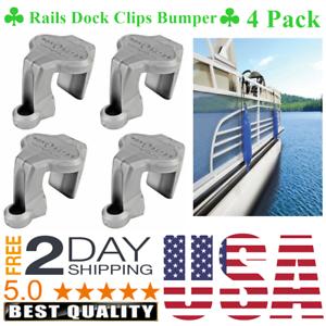 Pontoon Boat Rail Fender Hanger Adjuster Square Rails Dock Clips Bumper 4 Pack