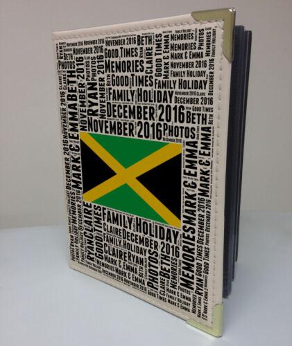 """Personalised 7x5/"""" x 36 photo album Jamaica holiday honeymoon memory book"""