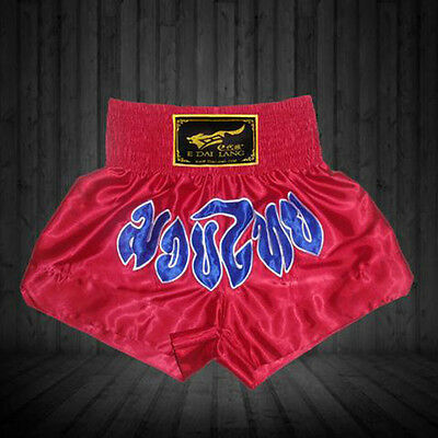 Muay Thai Boxing MMA Satin Pants Shorts Trunks Competition Exercise Men Women