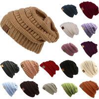 Cc Beanie Slouch Knit Cap Oversize Caps Baggy Ski Hat Unisex Winter Women Hats