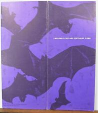 1966 Carlsbad Caverns New Mexico vintage info brochure & map bat cover b