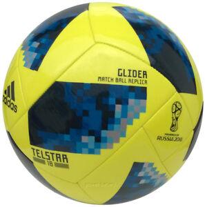 Details Zu Adidas Telstar 18 Wm Russland 2018 Glider Fussball Trainingsball Ball Gelb Blau