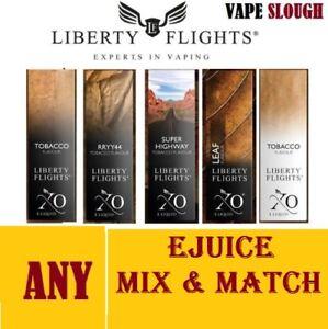Details about Liberty Flights XO Virginia Tobacco Leaf   RY4   E-Liquid  Juice Vape 3-6-12-18mg