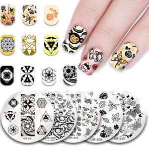 UR-SUGAR-Nail-Stamping-Plates-Nail-Art-Stamp-Design-Image-Stencil-Template-DIY