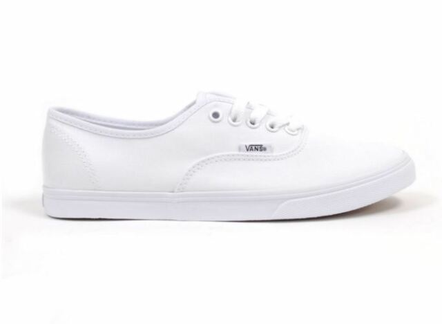 vans authentic lo pro womens shoes true white