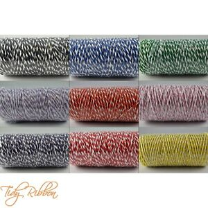Bakers-Twine-2m-5m-10m-Crafts-1mm-String-Gift-Wrap-Tags-Cotton-Party-Ribbon