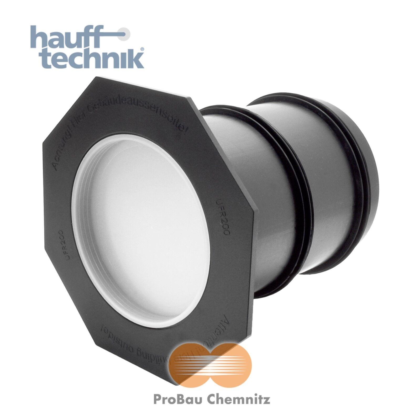 Hauff UFR 200/500 Futterrohr universell mit Anspachtelflansch, DN200, L. 500mm