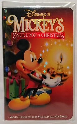 Mickey Mouse Once Upon A Christmas.Mickey S Once Upon A Christmas 1999 Vhs Clamshell Case Disney Mickey Mouse Ebay