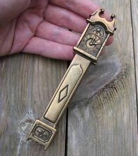Old Reclaimed Solid Brass Grandfather Clock Door Knocker