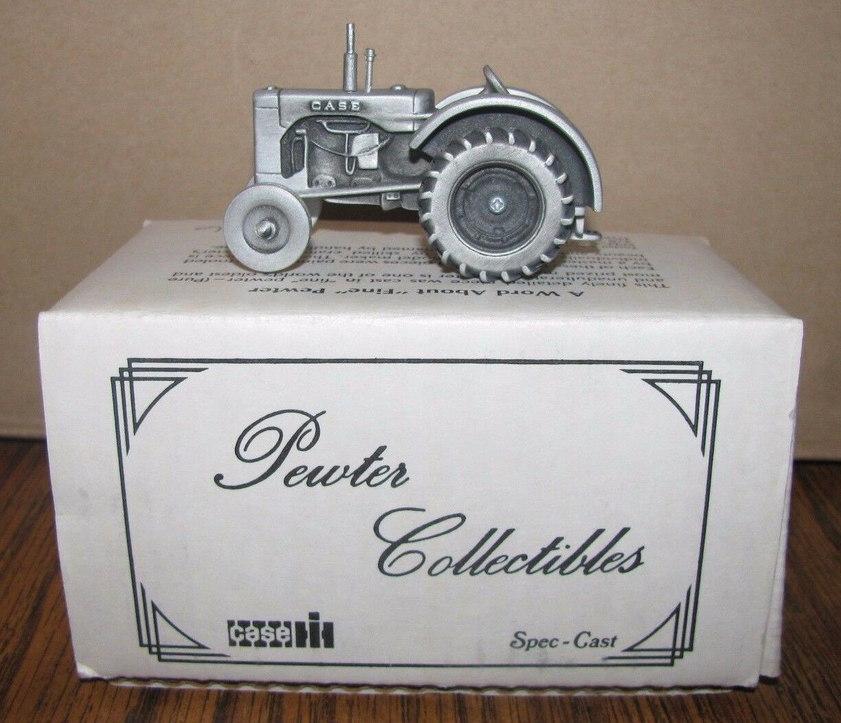 1 43 Case Model LA Tractor Pewter Collectible Toy Spec Cast ZJD26 1980's NEW