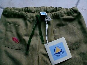 Pantalon-fille-PETIT-BATEAU-en-6-ans-vert-rose-bleu-NEUF-Etiquette