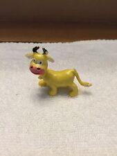 Hard Plastic Miniature Cow Figurine