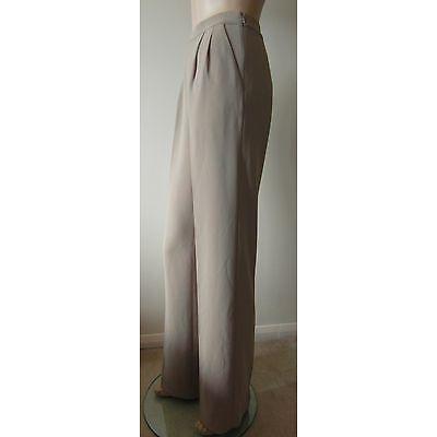 "LK Bennett 'Suki' Designer Tailored Oatmeal Size 18 (36W) Trousers 33"" Leg BNWT"