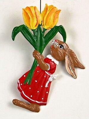 Artist Wilhelm Schweizer German Standing Pewter Zinn Easter Red /& White Flowers