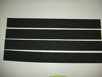 """Lot of 4 sheets of 10 Strips//Pads Neoprene Foam 1//16/"""" x 1//4/"""" W x 26-3//4/"""""""