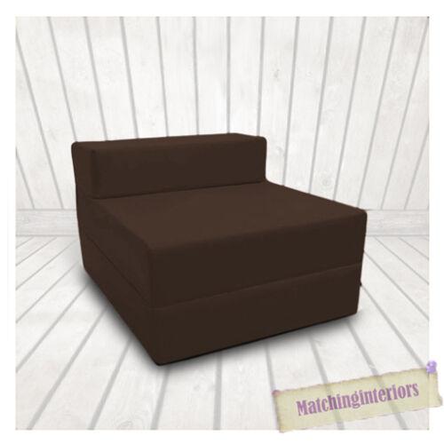 Braun Budget Block Gefüllt Baumwolle Ausklappbar Z-Bett Matratze Sofa Stuhl Bett