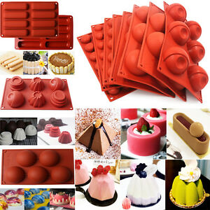 Silicone-Cupcake-Mousse-Muffin-Pan-Pudding-Pastry-Bakeware-Cake-Baking-Tray-Mold