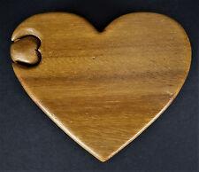 Wooden Heart Puzzle Trinket Box Stash