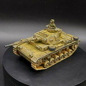 PRO PAINTED 28mm BOLT ACTION tedesco DAK Panzer III con serbatoio Commander ww2 (Plastica)
