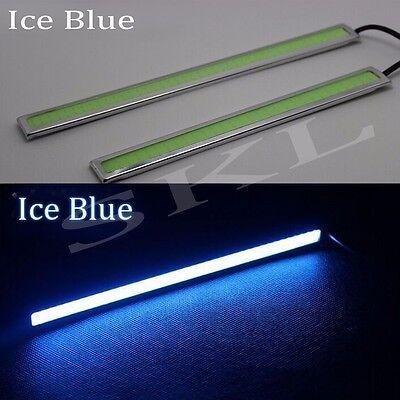 2x Ice Blue COB Car LED Lights 12V For DRL Fog Driving Lamp Waterproof 17cm