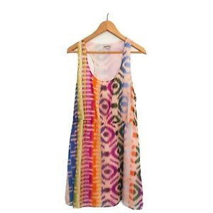 Broadway-amp-Broome-100-Silk-Womens-Size-10-Multi-Coloured-Lightweight-Dress