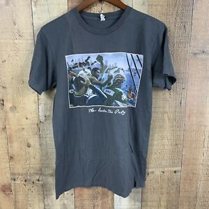 Alstyle-Mens-Graphic-Tee-Sz-M-Gray-Boston-Sports-Tea-Party