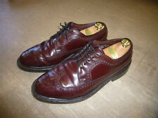 Vintage Men's Burgundy Genuine SHELL CORDOVAN Oxfords FRENCH SHRINER Sz 9.5 EEE