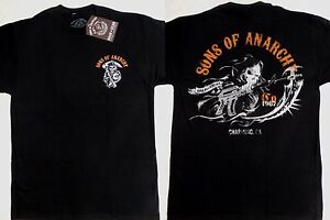 Details about Sons of Anarchy SOA Charging Reaper Tv Show Reaper T-Shirt