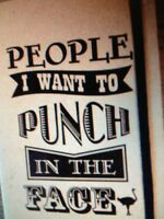 The Chive Authentic 'people I Want To Punch In The Face' Scratch Pad Kcco