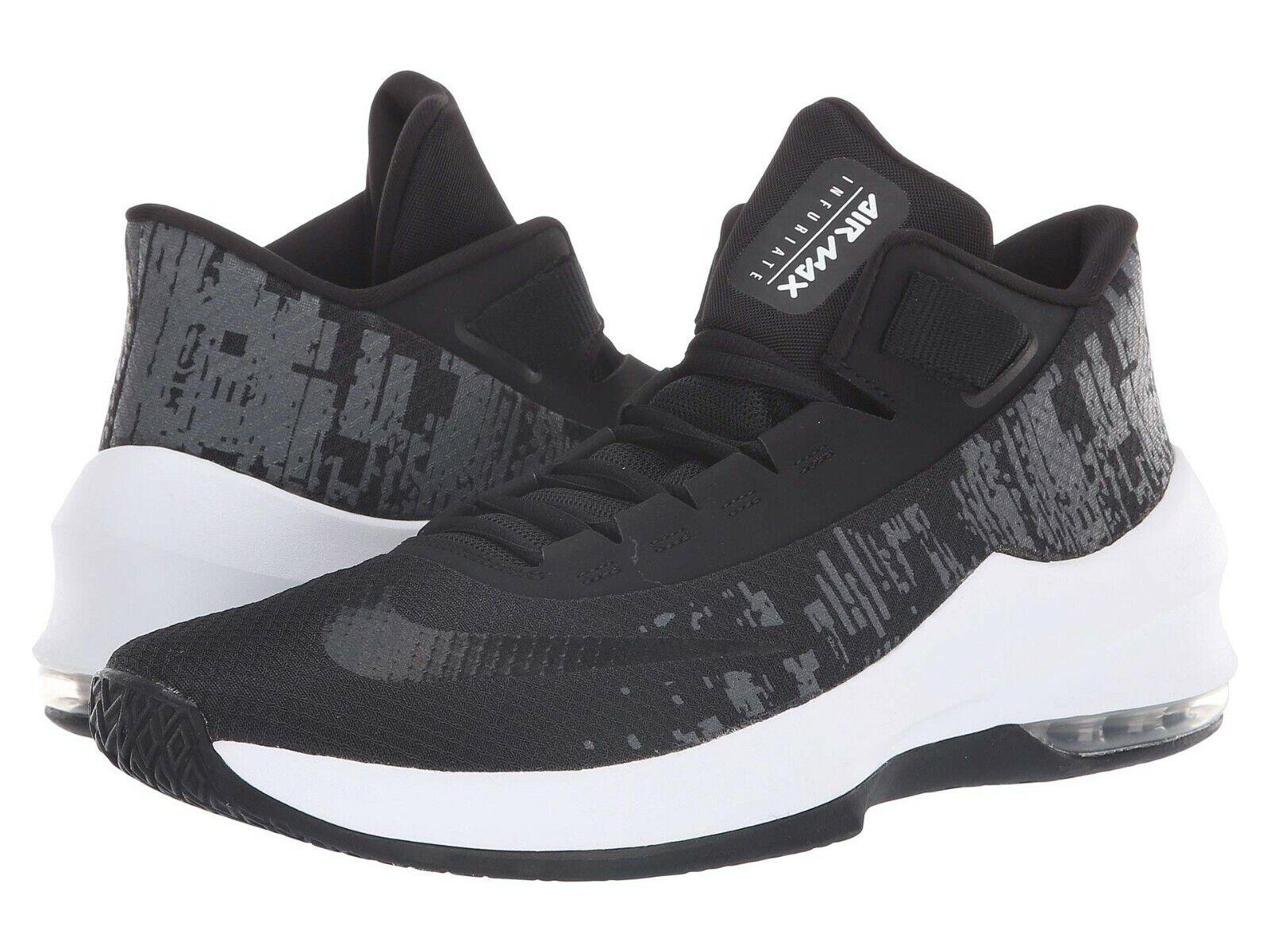 Nike AIR MAX INFURIATE 2 MID Mens Black Black-White-Anthracite AA7066-001 shoes