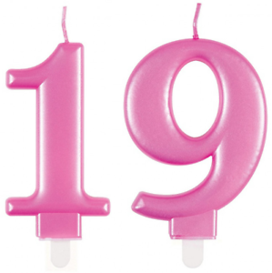 Metallic Pink Age 19//19th Numeral Candles