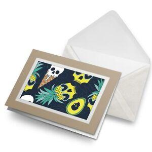 Greetings-Card-Biege-Funky-Pineapple-Ice-Cream-Skulls-16020