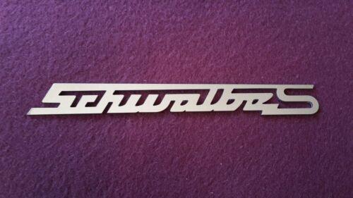 In acciaio inox Simson Schwalbe S scritta-emblema logo lucidata per Schwalbe kr51