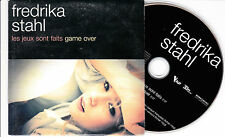 CD CARTONNE CARDSLEEVE FREDRIKA STAHL LES JEUX SONT FAITS GAME OVER 2T + 2 VIDEO