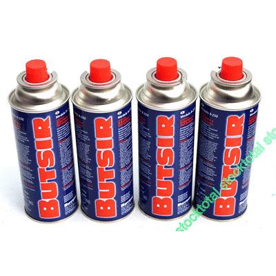 4 CARTUCHO GAS BUTSIR Cartucho de gas butano B-250 Butsir IM stocktotal