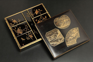 Antique-Japanese-Lacquer-Maki-e-Incense-Box-Edo-Era