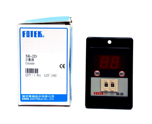 1pc Fotek SK-2D Counter 2 Digits 00~99 Set Relay out Power On Auto Reset