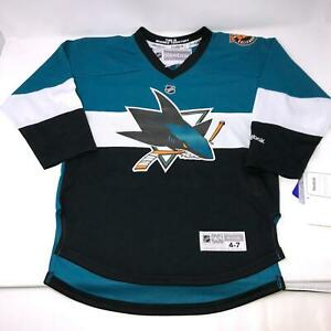 San-Jose-Sharks-Reebok-Vlasic-44-NHL-Hockey-Jersey-Youth-Toddler-Size-4-7