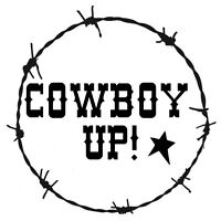 Stencil Cowboy Up Barbed Wire Border Western Country Rustic You Choose Size