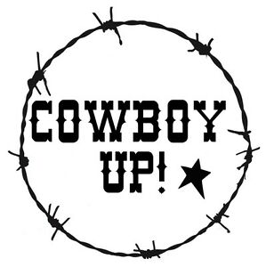 Image Is Loading Stencil Cowboy Up Barbed Wire Border Western Country