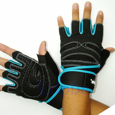 Weight Lifting Gym Gloves Exercise Training Workout Wrist Wrap Fitness Glove New