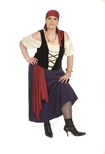 Bawdy Purple Pirate girl FANCY DRESS all PLUS SIZES